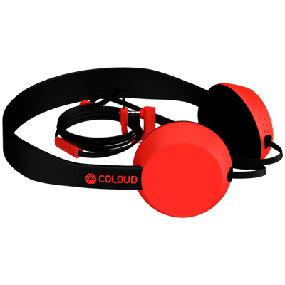 AURICULARES COLOUD KNOCK BLOCKS ROJO
