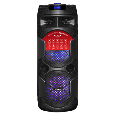 BAFLE AIWA AW-T451D DE 4500 WATTS RECARGABLE CON BLUETOOTH