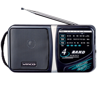 RADIO WINCO W-204 AM-FM 4 BANDAS