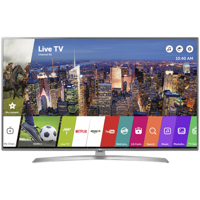 "SMART TV LG 60"" 4K UHD UJ6580-7270."