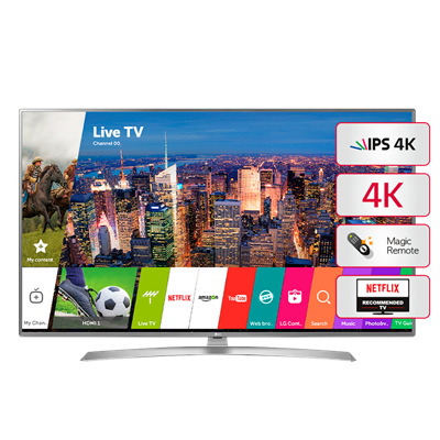 "SMART TV LG 75"" 4K UHD UJ6580"