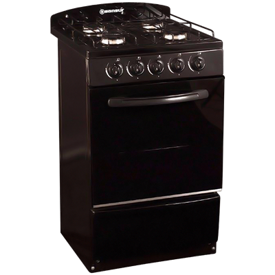 COCINA SANSUR 53 CM SP84 GAS NATURAL NEGRO