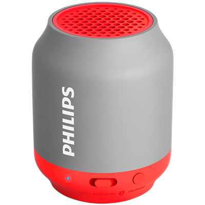 PARLANTE PORTATIL PHILIPS BT25G/00 ROJO
