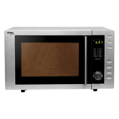 HORNO MICROONDAS ATMA MD923GN 23 LITROS  C/GRILL.ACERO INOXIDABLE