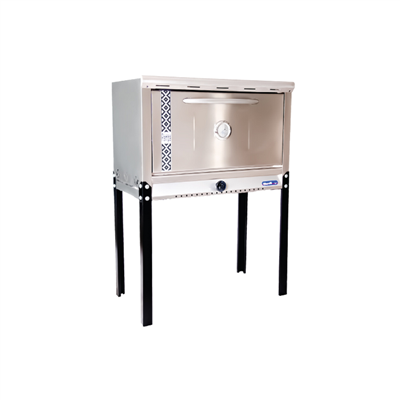 HORNO PIZZERO MORELLI 101645. Exterior Acero Inoxidable.GAS NATURAL.