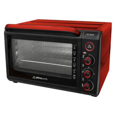 HORNO ELECTRICO CON PARRILLA ULTRACOMB UC45CS 45L ROJO.
