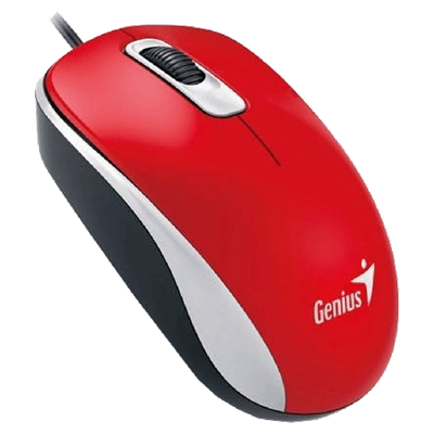 MOUSE GENIUS DX-110 USB ROJO