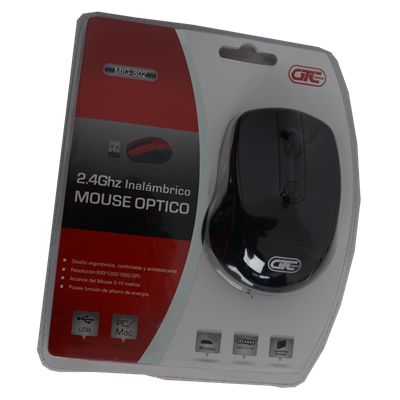 MOUSE GTC MIG-802 MOUSE INALAMBRICO NEGRO