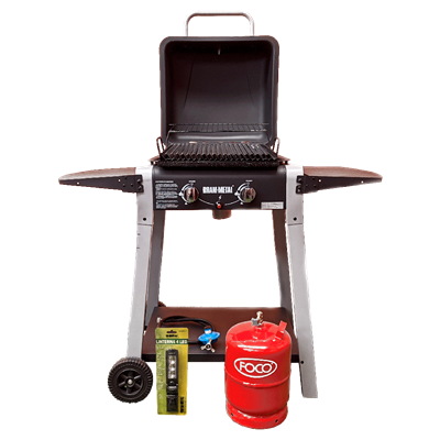 PARRILLA BRAM METAL A GAS MODELO MASTER GRILL